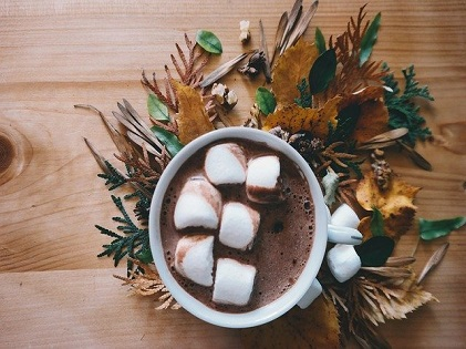 chocolate drink with mallows