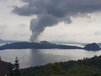 Taal Volcano Smoke
