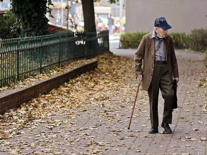 old man in cane